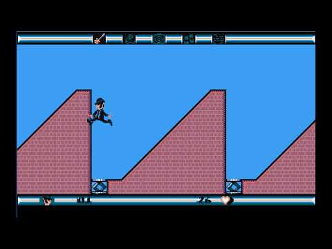 Blues Brothers old PC game (DOS) gameplay - 1991