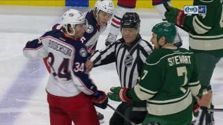 Gotta See It: Multiple fights break out between Blue Jackets & Wild