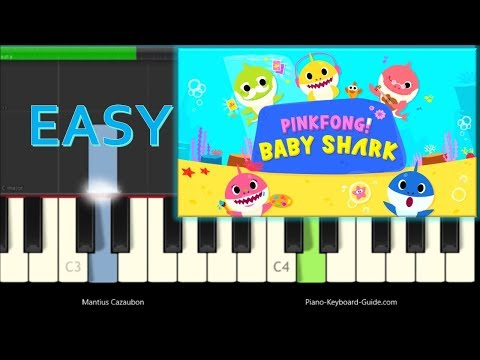 Pinkfong - Baby Shark Song - Easy Piano Tutorial