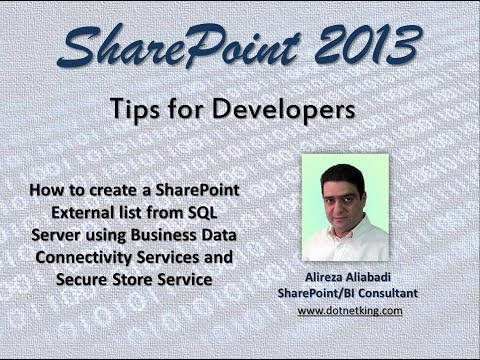 Create a SharePoint 2013 External list from SQL Server using BCS and Secure Store