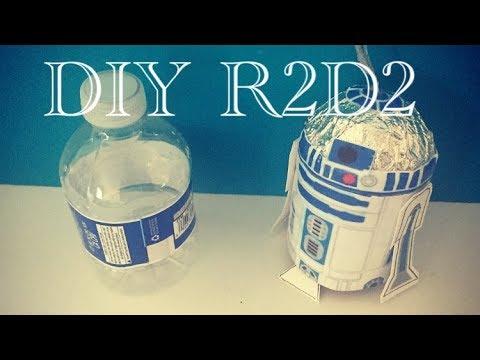 DIY R2D2 Toy Ornament Using Empty Water Bottle
