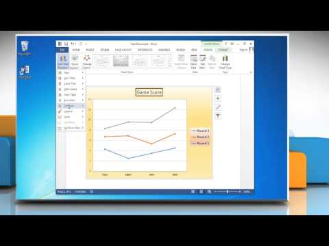 How to show and hide gridlines in line graphs in Microsoft® Word 2013