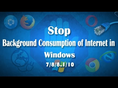 How to Stop Background Consumption of Internet in Windows 7/8/8.1/10