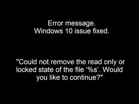 windows 10 read only file error fixed