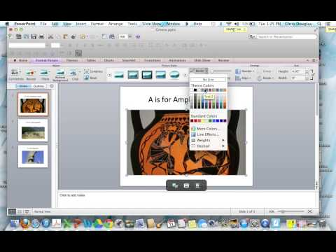 Picture Borders in Powerpoint 2011