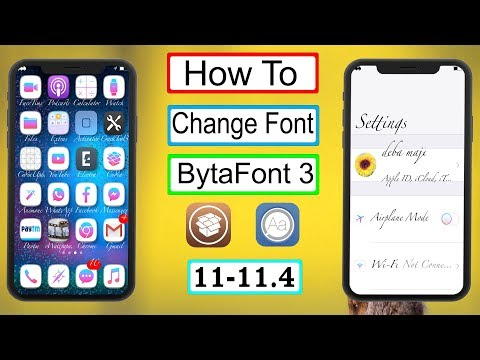 How To Change Font BytaFont 3 iOS 11 - 11.4