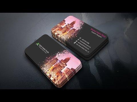 How TO Make Creative Paint Splash Business Card - Photoshop Tutorial