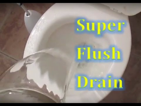 EASY Steps HOW TO Drain Your Toilet Bowl Using WATER for Toilet Cleaning