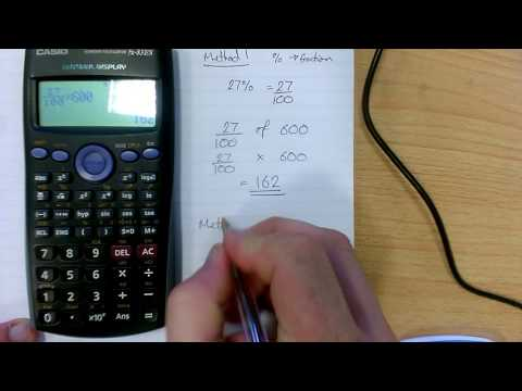 How to calculate percentages using a calculator