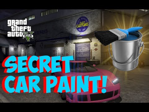 GTA 5 Online - SECRET CAR PAINT! Hidden Colors for Cars! How to Get Secret Colors! (GTA 5 Tricks)