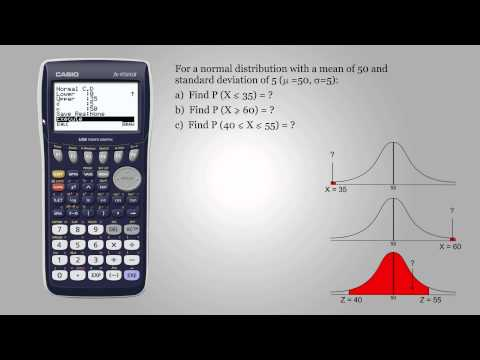 Probability for normal distribution - Casio fx-9750GII