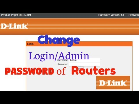 How to change admin password in dlink router 600m - [BlueLightTECH]