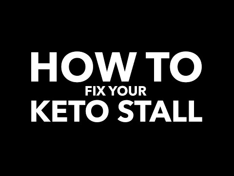 Keto Stall, Keto Plateau, What to do in order of importance to break stall