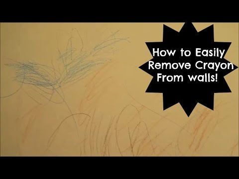 The Best & Easiest Way to clean crayon off your walls!