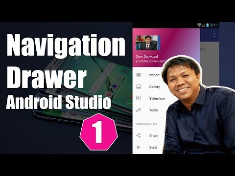 Latest Android Studio Navigation Drawer Tutorial (Part 1) - 2016