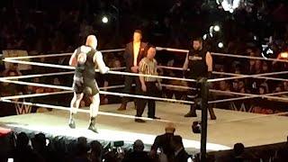 BROCK LESNAR Vs KEVIN OWENS FULL MATCH From #WWEMSG Live Event! 3/12/2017