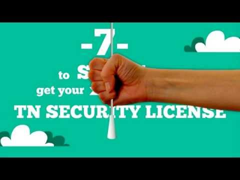 How To Get An Armed / Unarmed TN Security License Nashville, TN