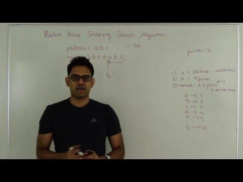 Rabin Karp Substring Search Pattern Matching