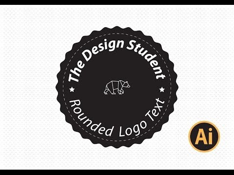 How To Type on Curved Line  in Illustrator (Vintage logo)| The Design Student