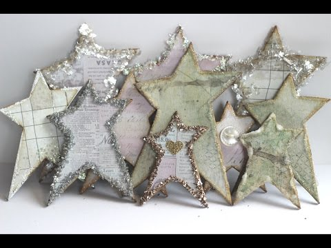 Shabby Chic Primitive Star Embelishment Tutorial