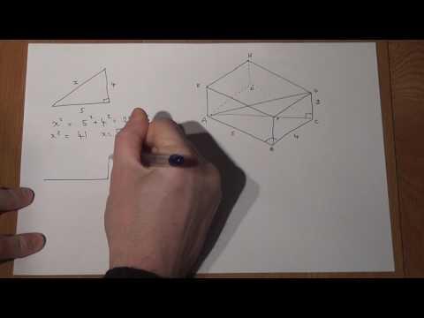 GCSE Maths: 3d trigonometry: Pythagoras and SOHCAHTOA within a cuboid