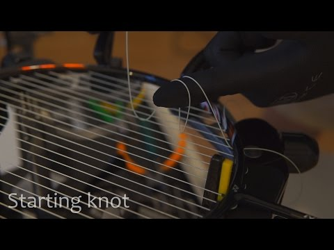 How to Tie Starting/Ending Racquet Stringing Knots