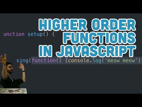 16.5: Higher Order Functions in JavaScript - Topics of JavaScript/ES6