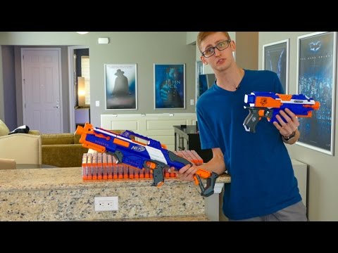 SHOOTING 430 NERF DARTS AS FAST AS POSSIBLE 2 | RAPIDSTRIKE | TACTICAL SPRAY & PRAY!