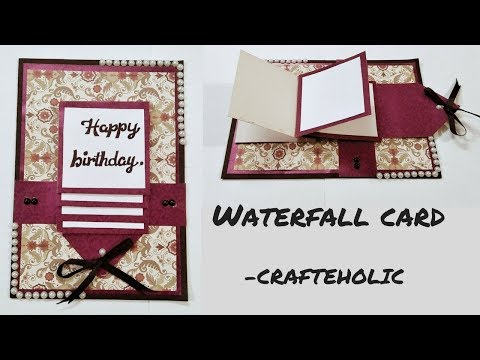 how to make waterfall card \birthday cards\how to make birthday cards\scrapbook card ideas