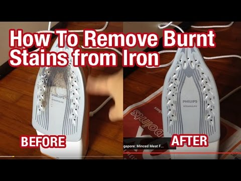 How To Remove Burnt Stains from An Iron Plate