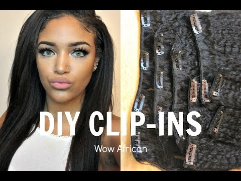 DIY: Make your own clip-ins | WowAfrican