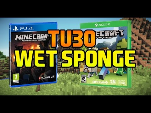 Minecraft | TU30 | Wet Sponge | PS4, Xbox One, PS3, Xbox 360 & PS Vita