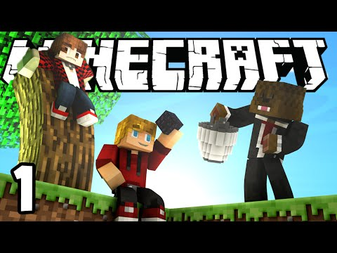 Minecraft SkyBlock Survival Episode 1! w/Mitch & Jerome