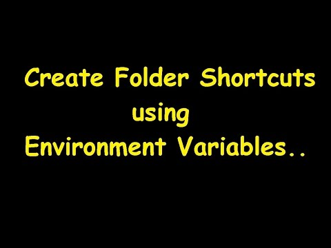 Windows Trick | Create folder shortcut and open using Run window. (Environment Variables )