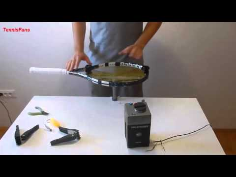 How to: String a tennis racket w/ Pro Stringer Digital Part 2 Stringing
