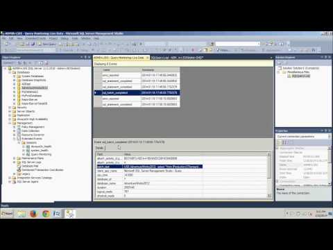 SQL Server 2012 tutorial 92: Using Extended Events.