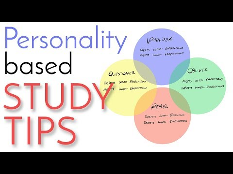 Personality Study Tips - Tools for Better Grades | 4 Tendencies