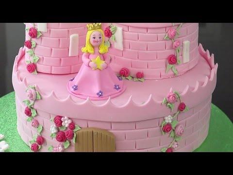 How To Make A Princess Castle Cake - Part 2