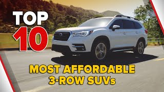 10 Most Affordable 3 Row SUVs