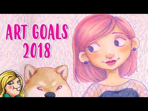 My ART GOALS for 2018 - Copic Marker Illustration