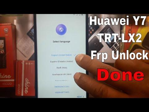 Huawei Y7 (TRT-LX2) Frp Unlock/Bypass Google Account New Method 2018