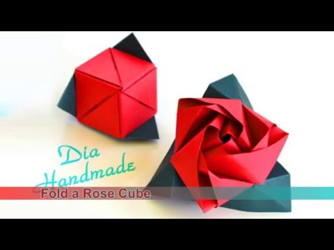 How to make a Modular Origami Rose Cube