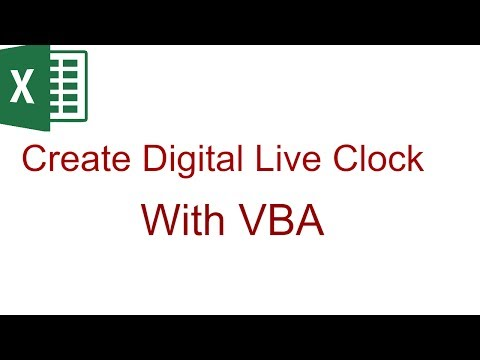 Excel VBA Tips & Tricks | How to create a live Clock