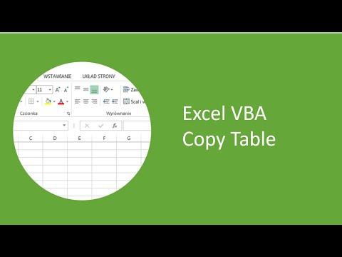 Excel VBA - Copy Table