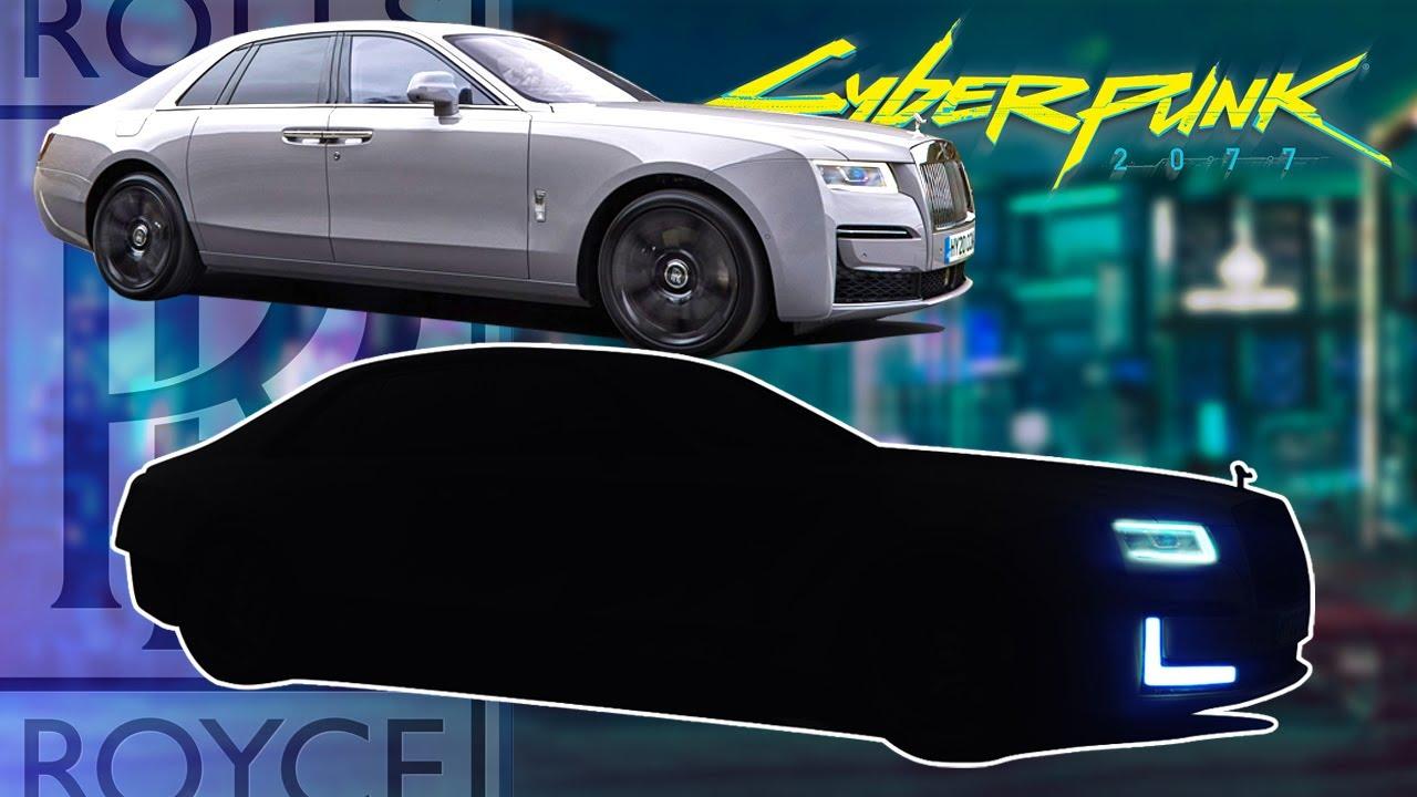 I turn the Rolls Royce Ghost into a Cyberpunk car