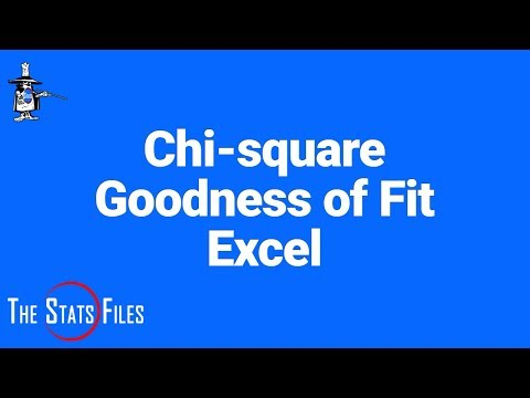 Chi-square hypothesis test for Goodness of Fit using Excel