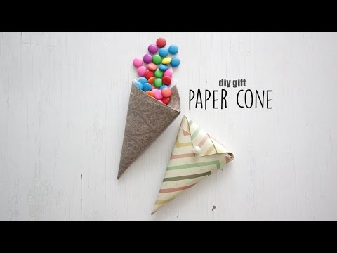 DIY: Gift Paper Cone