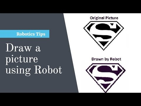 UiPath Robot draws a picture | RPA | Automation | Robot drawing sketch | Sketching Robot