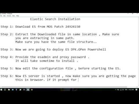 PeopleSoft Elastic Search Installation -Velu