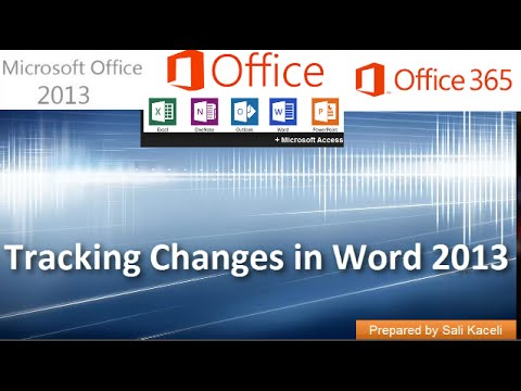 Track Changes in Word 2007, 2010, 2013, 2016 - See the Difference